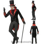 CL909 Black Mens Count Dracula Vamp Vampire Costume Halloween Fancy Dress Gothic