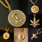 Hot Fashion blessing Unisex Hipster Gold Nightclub bar Hip-Hop Necklace Pendant