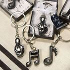 3 Assorted Musical Note Keyring Keychain Wedding & Party Bag Filler Favours
