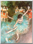 Stretched Art Print The Green Ballet Dancer Ballerina Edgar Degas Painting Repro