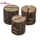 10/20/50pcs Tree Wooden Place Card Holders Wedding Seat Table Number Top Decor