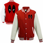 Deadpool Varsity Jacket - Marvel Inspired Comics Eyes Face Kids Adults College