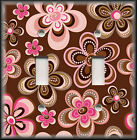 Light Switch Plate Cover - Pink And Brown Flowers/Floral Home Decor