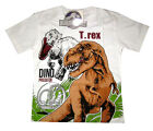 JURASSIC WORLD kids short sleeve white summer t-shirt Size S-XL 4-9yrs Free Ship