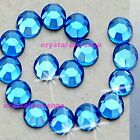 Light Sapphire Iron On Hot fix Rhinestones Crystals Hotfix Shine 2mm 3mm 4mm 5mm
