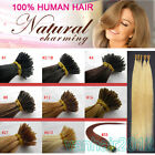"20"" Keratin Stick/I-Tip Remy Human Hair Extensions Straight Any Color 1g/s 100s"
