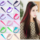 Women's Girl's Fashion Long Straight Highlights Hairpiece Clip Hair Extensions