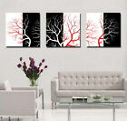 Modern print Abstract oil painting art canvas black White Red tree pictures 3665