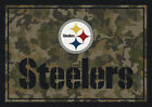 Milliken Multi-Color Contemporary NFL Area Rug Sports 03076 Pittsburgh Steelers