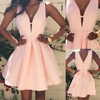 Sexy Women Summer Casual Sleeveless Party Evening Cocktail Short Mini Dress CHIC