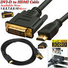 Gold Plated DVI (24+1) Pin to HDMI Digital CableLead For PC HDTV LCD DVD BluRay