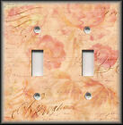 Light Switch Plate Cover - Peach Pink Floral Antique Shabby Chic Home Decor