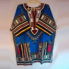 2016 african traditional print 100% cotton Dashiki T-shirt with pocket unisex