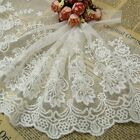 New White Lace Trims Embroidered Tulle Trimmings Sew On Bridal Veil Accessories