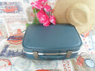 "FAB Retro Blue 1960s Shabby Chic 17"" Vintage Vanity / Suitcase~Display-Prop"