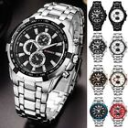 Curren Men's Stainless Steel Luxury Military Sports Analog Quartz Wrist Watches
