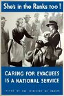 WB65 Vintage Shes In The Ranks Too Evacuees WW2 World War II Poster A2/A3/A4