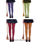 AS185 Stripes Witch Tights High Pantyhose Halloween Gothic Costume Stockings
