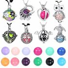 Women Locket Harmony Ball Cage Silver Pendant Sounds Chime Pregnancy Necklace