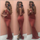 HOT SELL Women Halter Neck Sexy Dress Backless Evening Party Bodycon Long Dress
