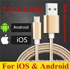 2 in1 Double Side Reverse Micro/Lightning USB Data Charge Cable iPhone Andriod