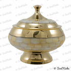 'Dragon Belly' Mother of Pearl Brass Bowl Resin Incense Charcoal Burner (BOWL30)