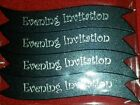 Wedding Invitation Banners - Black Sheen with Silver Foil Writing 25 per pack