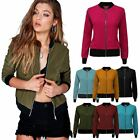 New Ladies Womens Retro MA1 Flight Vintage Bomber Biker Army Summer Jacket