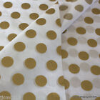 'Gold Spots' Premium Quality Patterned Tissue Paper Wrap 5 /10 sheets
