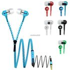 Universal 3.5mm Stereo in-Ear Earphone with Mic Zipper HeadsetEarbuds Headphone