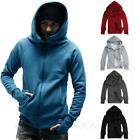 Plain Sweater NEW Womens Unisex Fashion Jacket Jumper Hoodie