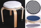 34cm Round Cushion Pad Mat/Plush canvas Sponge Anti-slip/NotInc Chair Seat Stool