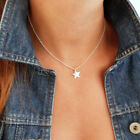 Fashion Simple Star Pendant Bar Necklace Women Gold Silver Plated Clavicle Chain