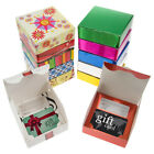 24pk Small Flat Gift Boxes With Folding Lids Bulk Set Lot For Birthdays Holidays