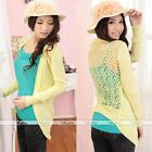 AUTUMN Womens Lace Candy Crochet Knit Blouse Coat Cardigans Shirt Sweater Tops