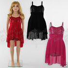 Girls Party Dress Sequin Detail Dip Hem *Bargain Last Ones Now* Age 2 3 4 5 Y