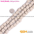 """Volcanic Lava Rock Stone Beads For Jewelry Making 15"""" Natural Stone Dyed Color"""