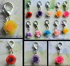 FLOWER FLORAL ROSE CLIP-ON CHARM FOR LIVING LOCKETS BRACELETS ETC