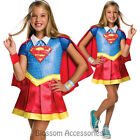 CK801 Deluxe Supergirl  DC Comics Superhero Hero Girl Fancy Dress Up Costume
