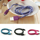 10Ft Long Braided Micro USB Data Sync Charger Cable Cord For Android Phones