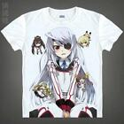 Anime Infinite Stratos White Cosplay Costume T-shirt Unisex