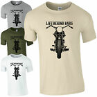Life Behind Bars Motorbike T-Shirt - Funny Road Bikers Cyclist Gift Mens Top