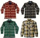 PADDED LINED LUMBERJACK SHIRT MENS BLUE CASTLE CONWY S-XXXL RED BLUE GREEN