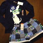 NWT Gymboree Girls Spring Prep Outfit Top Skirt Size 4 5 6 7 8 10
