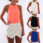 Sexy Fashion Women Summer Loose Sleeveless Casual Tank T-Shirts Blouse Tops Vest