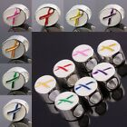 Wholesale Enamel Ribbons Cancer Awareness European Charms Beads Pink Red Blue...