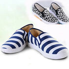Women's Casual Walking Drive Slip-on Breathable Comfort Stripe Flat Soft Shoes