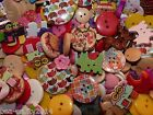 10/25 ASSORTED MIXED COLOUR PRINCESS HEART BUTTONS #CRAFT/CARD MAKING