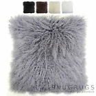 Mongolian Long Curly Wool Sheepskin Cushion / Pillow & Cushion Inner - 60 x 60cm