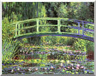 Claude Monet Water Lilies and Japanese Bridge Stretched Canvas Art Print Repro